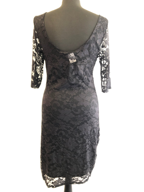 Size 12 Black Inter connections lace evening Dress