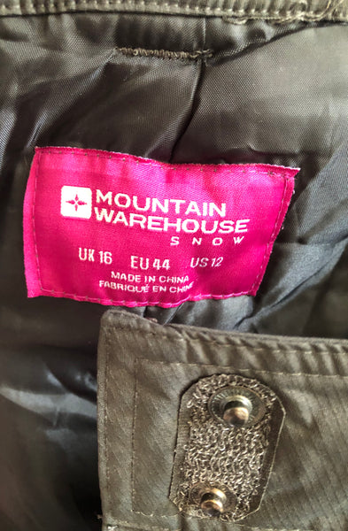 Size 18 Mountain Warehouse Snow Ski salopettes Trousers Grey New Tagged Rrp £59.99