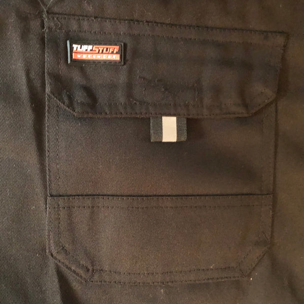 Large Mens 42R TuffStuff Black utility work Trousers New