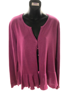 Size 16 Monsoon Pink Knit Cardigan