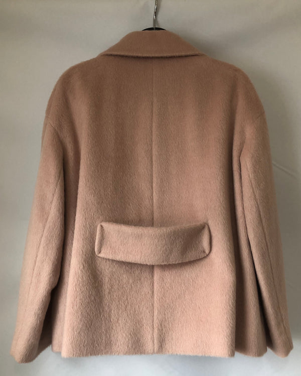 Size 16 Pale Pink Per Una Mohair Wool Mix Jacket New & Tagged Rrp £99