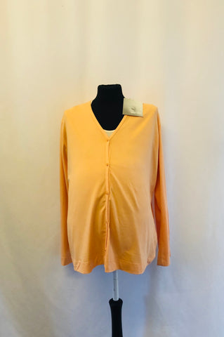 Maternity Size 10 Pale Orange Long Sleeved Top rrp 37.99