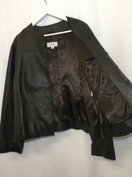 Size 18 Principles 100% Leather Brown Jacket