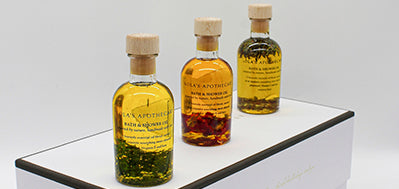 Lola's Apothecary Bath & Shower Oil Wellness TrioLip and Hand Kit.