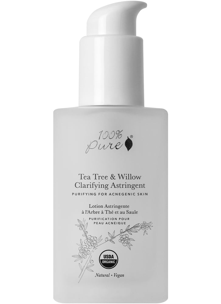100% Pure Tea Tree & Willow Clarifying Astringent