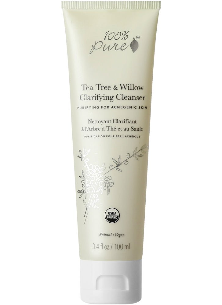 100% Pure Tea Tree & Willow Clarifying Cleanser