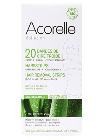 Acorelle Hair Removal Strips for Underarms & Bikini