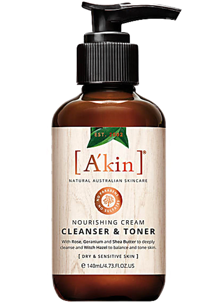 A'kin Nourishing Cream Cleanser & Toner