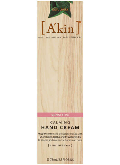 A'kin Calming Hand Cream for Sensitive Skin