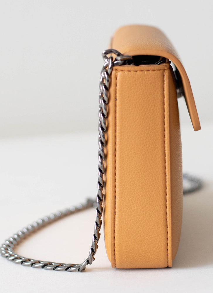 Angela Roi Hamilton Mini Chain Crossbody Mustard