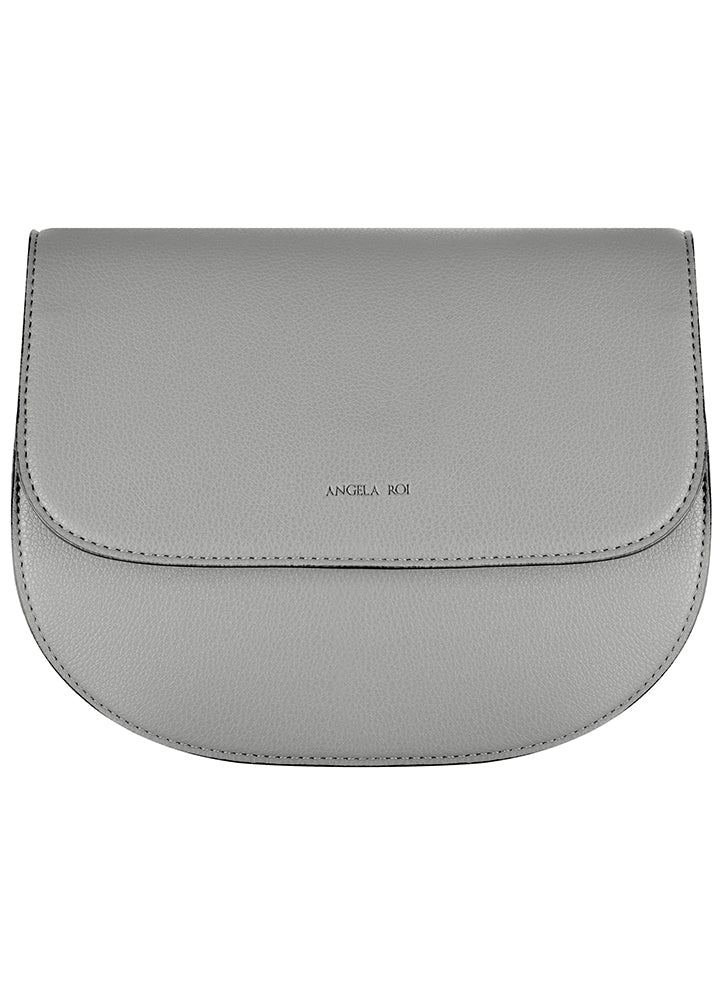 Angela Roi Hamilton Round Crossbody Light Gray