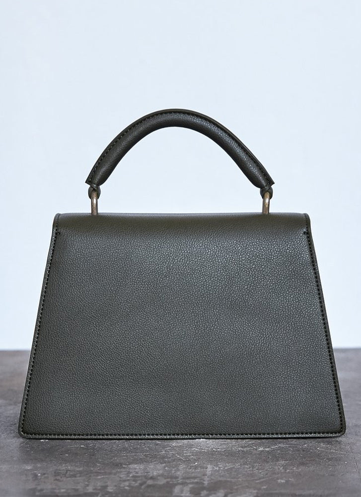 Angela Roi Hamilton Satchel Signet Dark Green