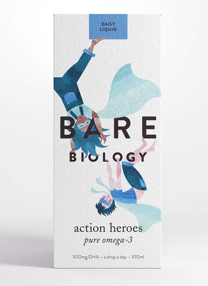 Bare Biology Action Heroes Pure Omega 3 Fish Oil Liquid