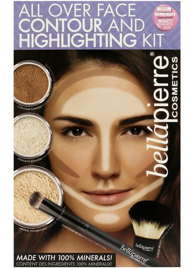Bellapierre All Over Face Highlight & Contour Kit Fair