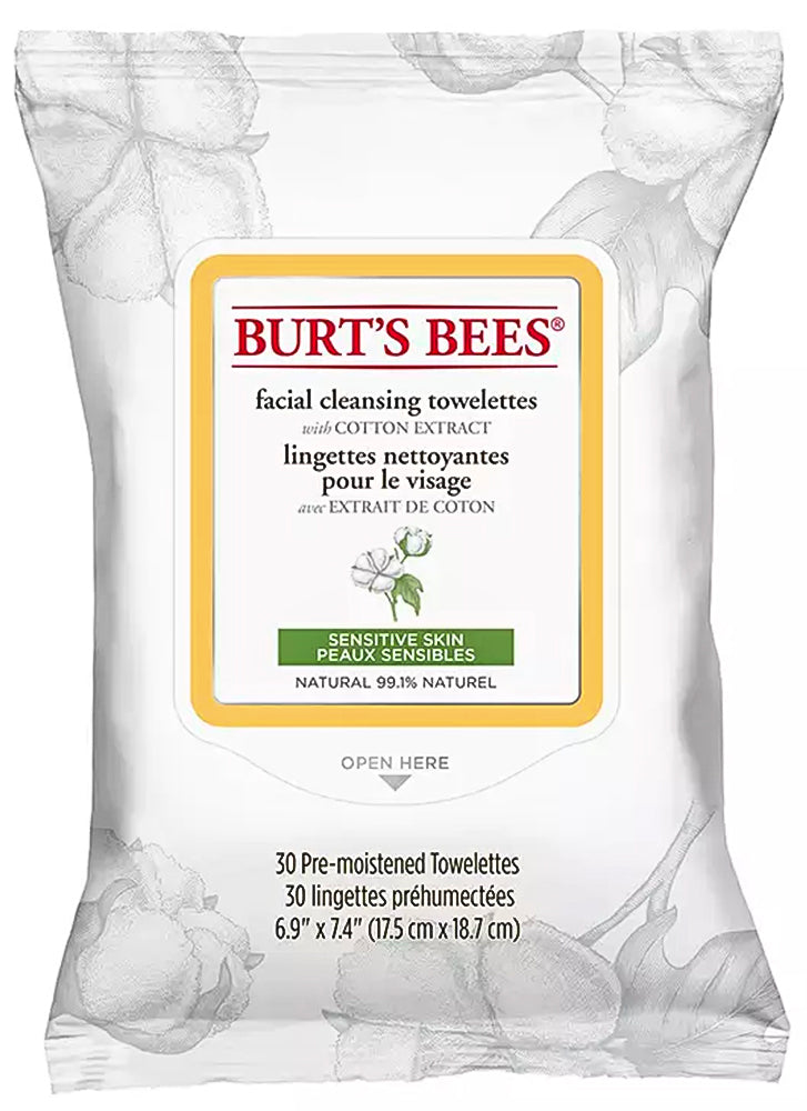 Burt's Bees Sensitive Facial Cleansing Towelette Wipes