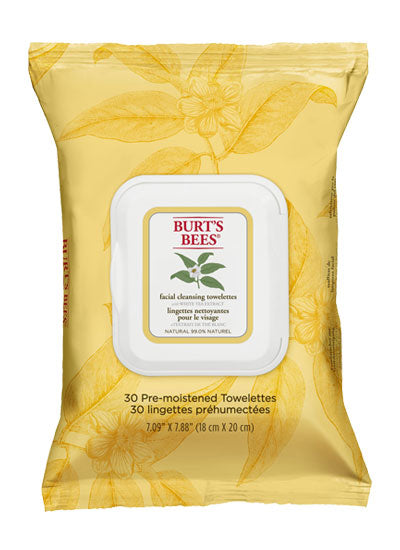 Burt's Bees White Tea Facial Cleansing Towelette Wipes