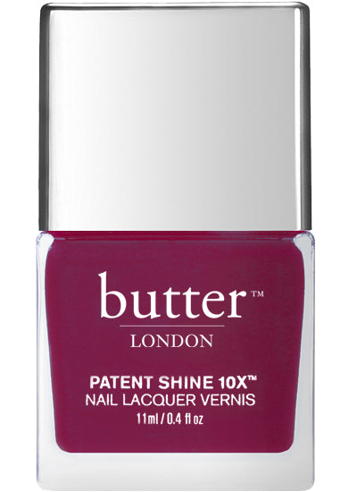 Butter London Patent Shine 10X Nail Lacquer Red BROODY