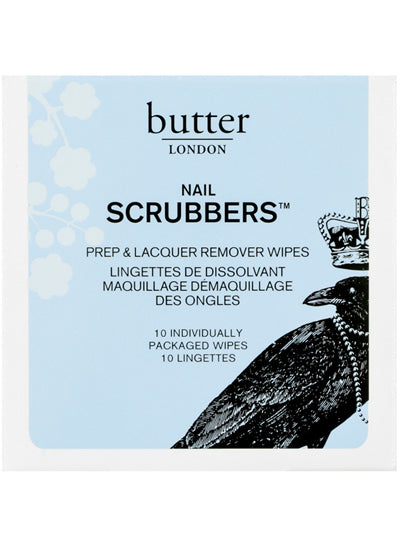 Butter London Nail Treatment Scrubbers 2in1 Prep and Remover Wipes