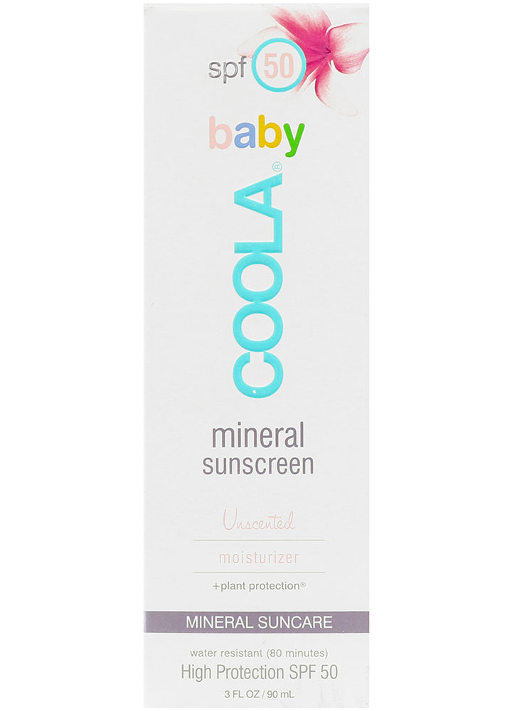 Coola Mineral Baby SPF 50 Unscented Organic Sunscreen Lotion