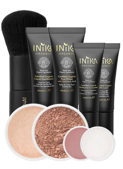 Inika Set Nurture for Light to Medium Skin (worth £89)