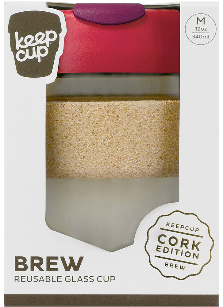 KeepCup Brew Cork Glass Flutter