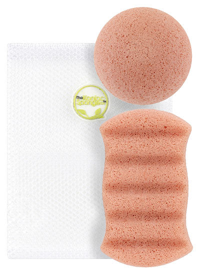Konjac Pink Clay Sponge Duo Pack