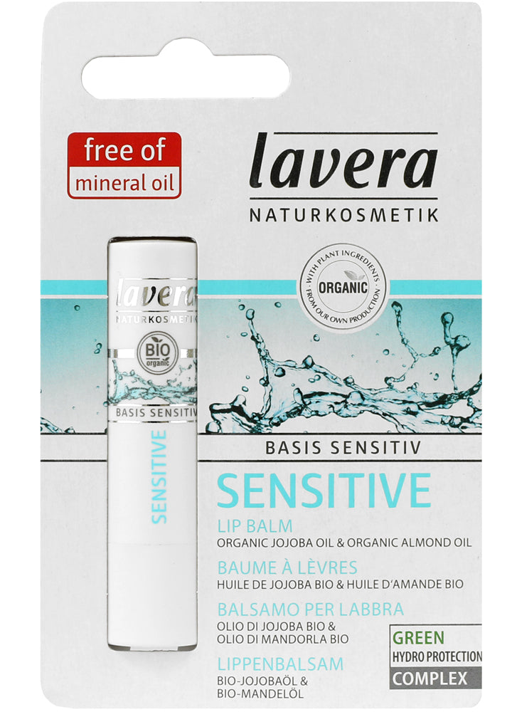 Lavera Basis Lip Balm with Organic Jojoba & Almond