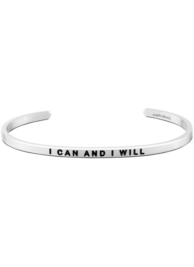 Mantraband I Can and I Will Bracelet SILVER