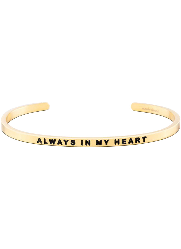 MantraBand Always In My Heart Bracelet GOLD