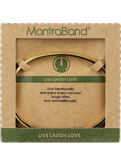 MantraBand Live Laugh Love Bracelet ROSE GOLD