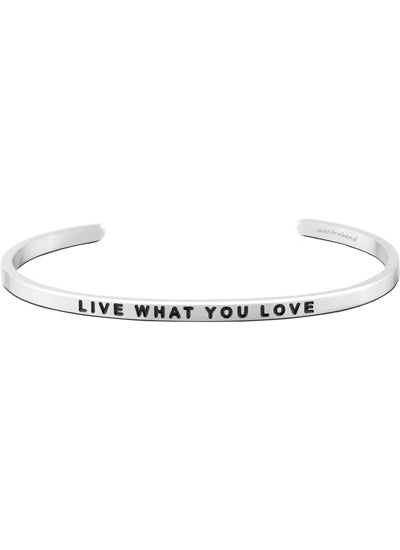 Mantraband Live What You Love Bracelet SILVER