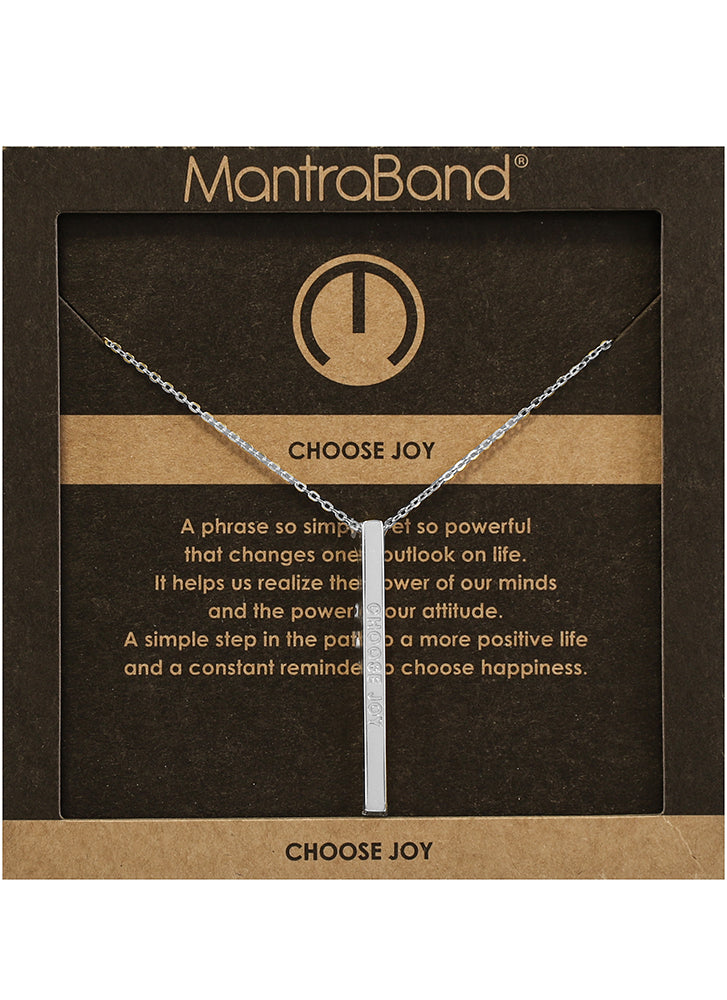 Mantraband Choose Joy Necklace SILVER