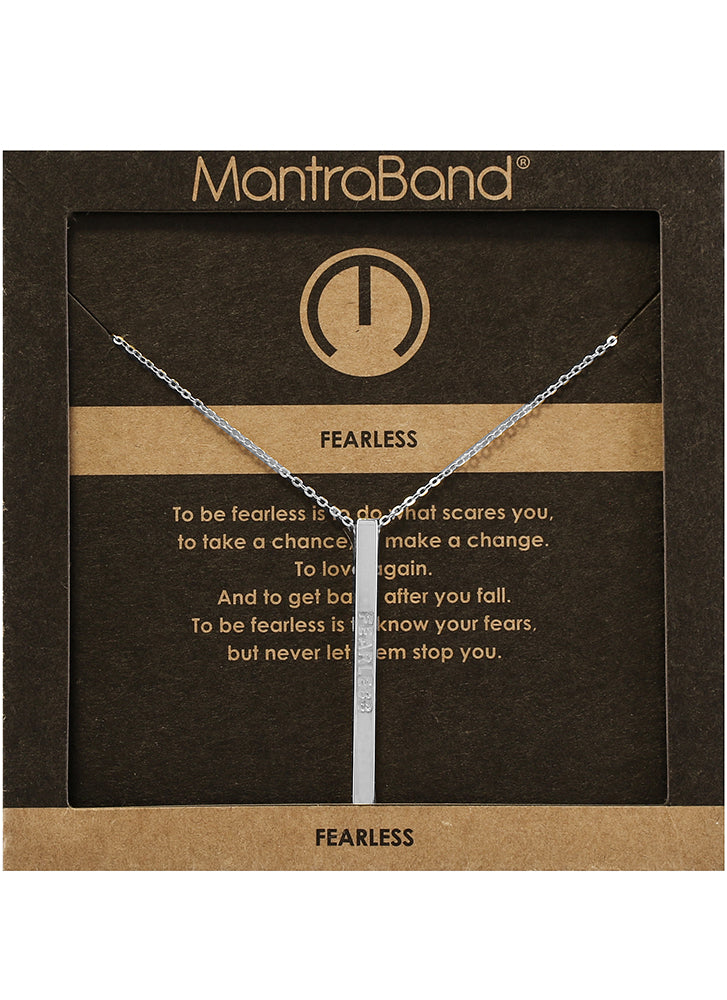 Mantraband Fearless Necklace SILVER