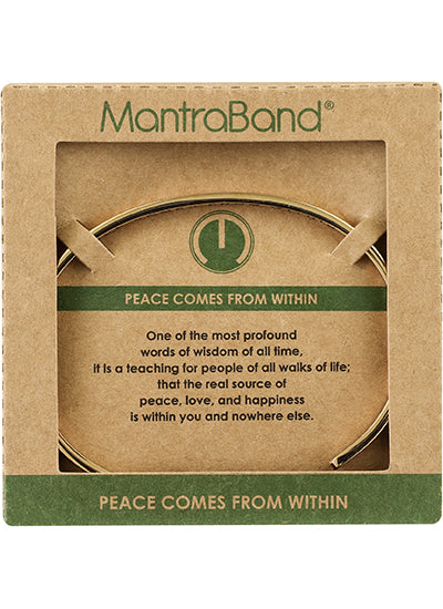 MantraBand Peace Comes From Within Bracelet ROSE GOLD