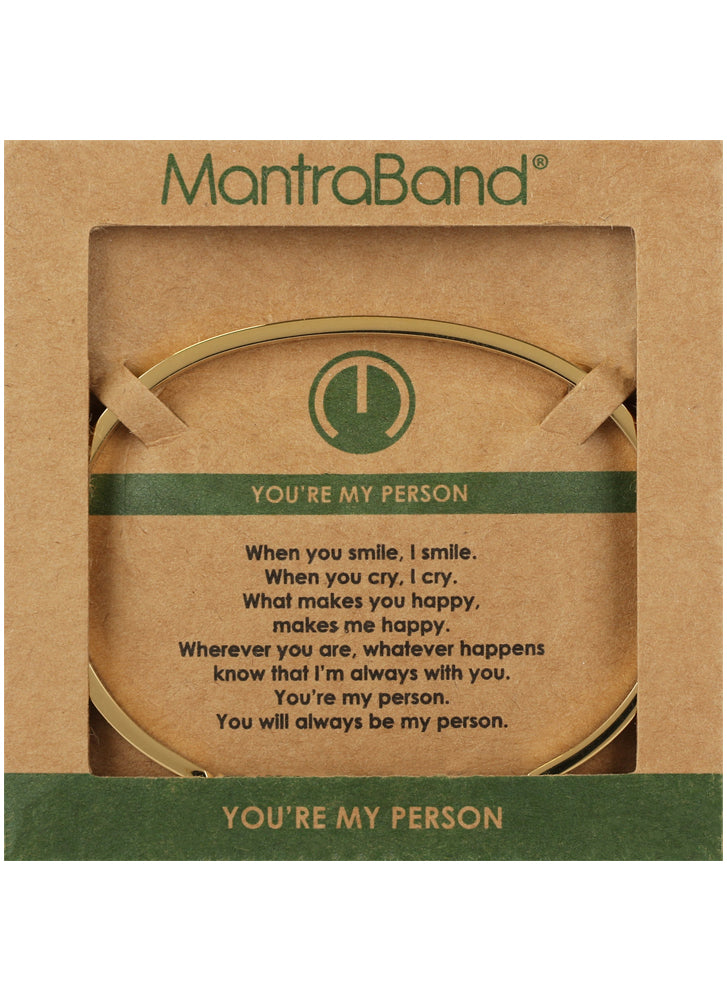 MantraBand You're My Person Bracelet GOLD