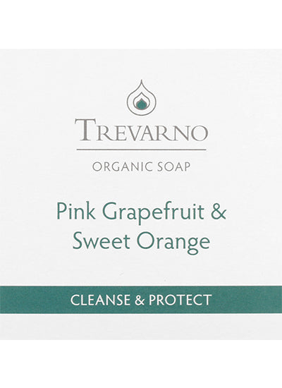 Trevarno Organic Pink Grapefruit and Sweet Orange Soap