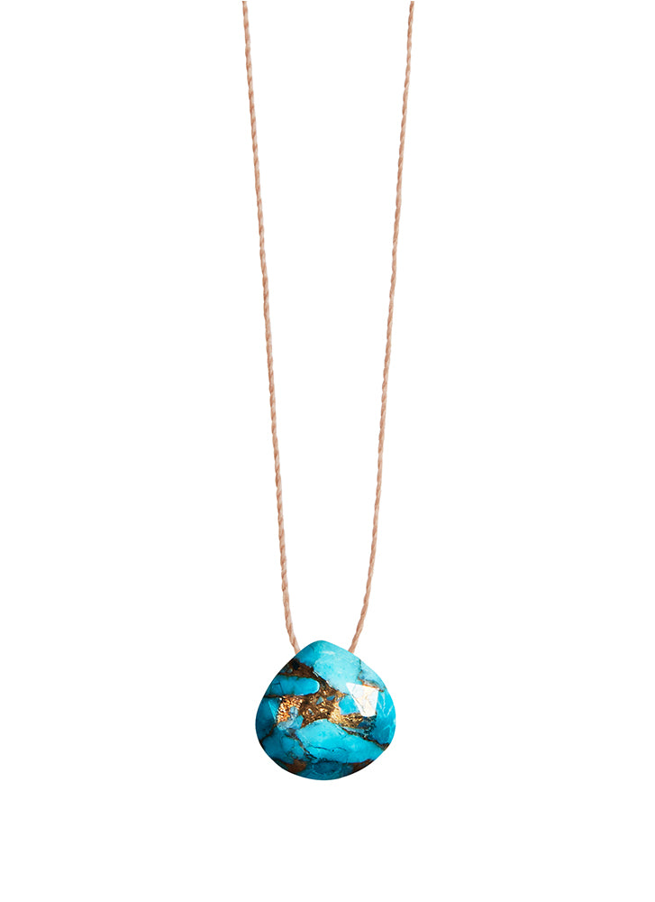 Wanderlust Life Mohave Turquoise Fine Cord Necklace