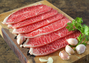 <transcy>Rib Eye de Res en Rodajas 肥牛 片 (Congelado, 1.5 Lb)</transcy>
