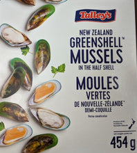 Load image into Gallery viewer, New Zealand Mussels half shell 新西蘭冰半殼青口 (Frozen 454g)
