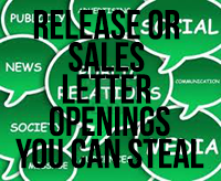 RELEASE OR SALES LETTER OPENING R&D FILE (that's ripoff & duplicate!) - Never know what will get their attention? Now you will!