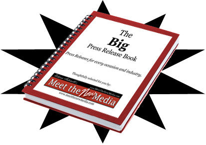 BIG PRESS RELEASE BOOK - 75 tried and true, well-written samples of winning press releases in many industries