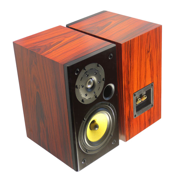 TUNERSYS S162YD Passive Bookshelf Speaker,Yellow/Black/Red Wood - Pair-speaker-TUNERSYS-TUNERSYS