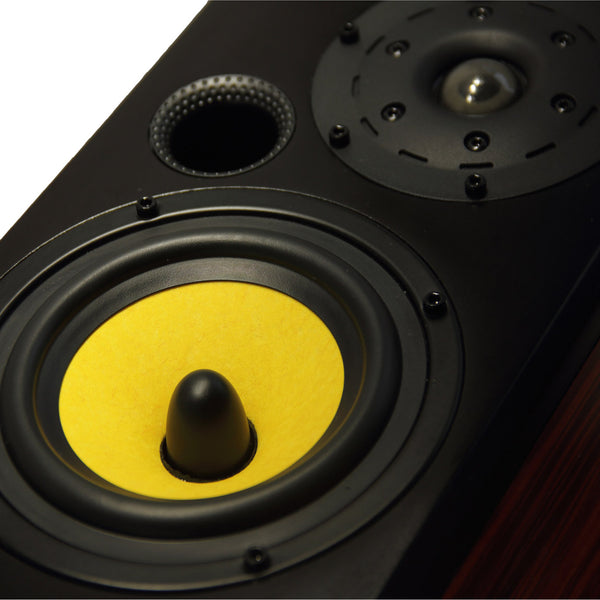TUNERSYS S162YS  Passive Bookshelf Speaker,Yellow/Black/Red Wood - one Piece