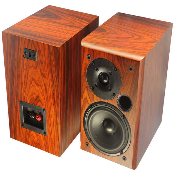 TUNERSYS Passive Bookshelf Speaker,5-inch Red Wood S162RD - Pair-speaker-TUNERSYS-TUNERSYS