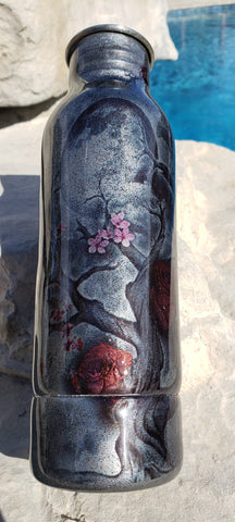 Full Moon & Cherry Blossom Bottle Holder