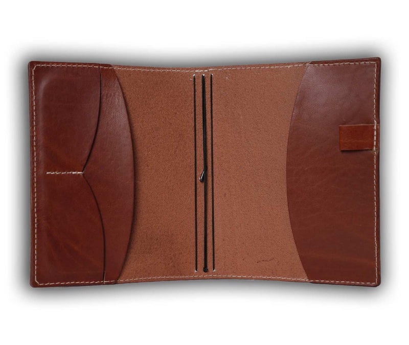 Bujo Cover pockets cognac leather