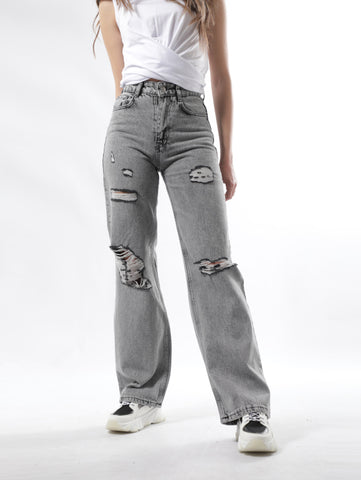 Sailor Ripped Jeans In Vintage Gray Wash