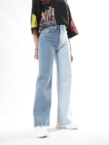 Sailor Blue Jeans With Multi Color Washes