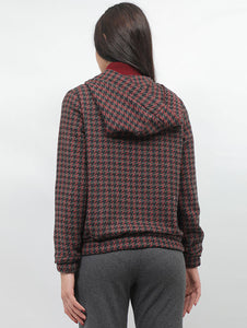 Houndstooth Patterned Jacket