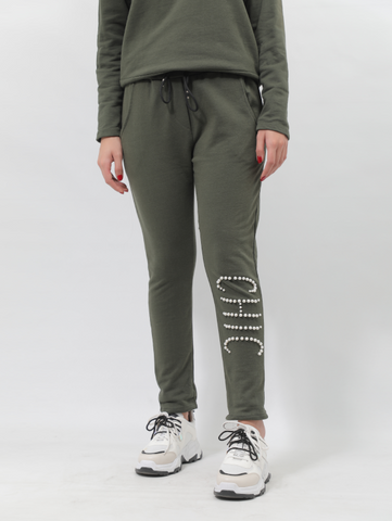 CHIC Cotton Sweatpants In Green